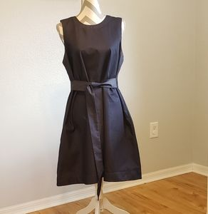 ANN TAYLOR DARK BLUE DENIM DRESS